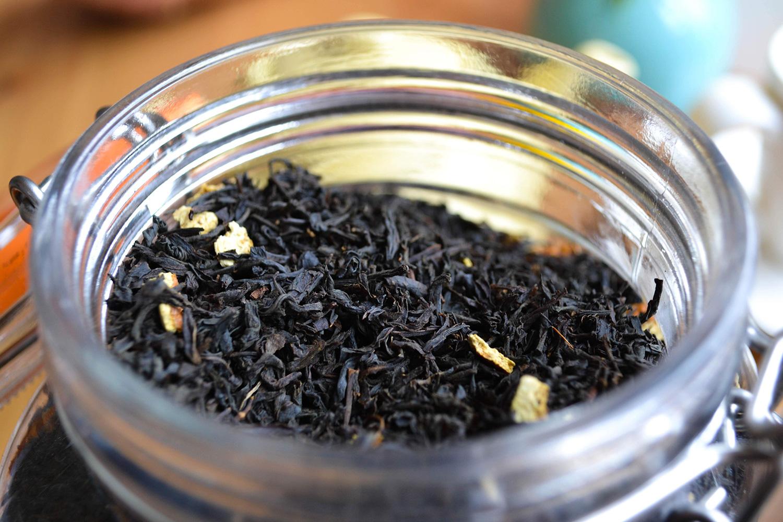 Loose tea leaves.