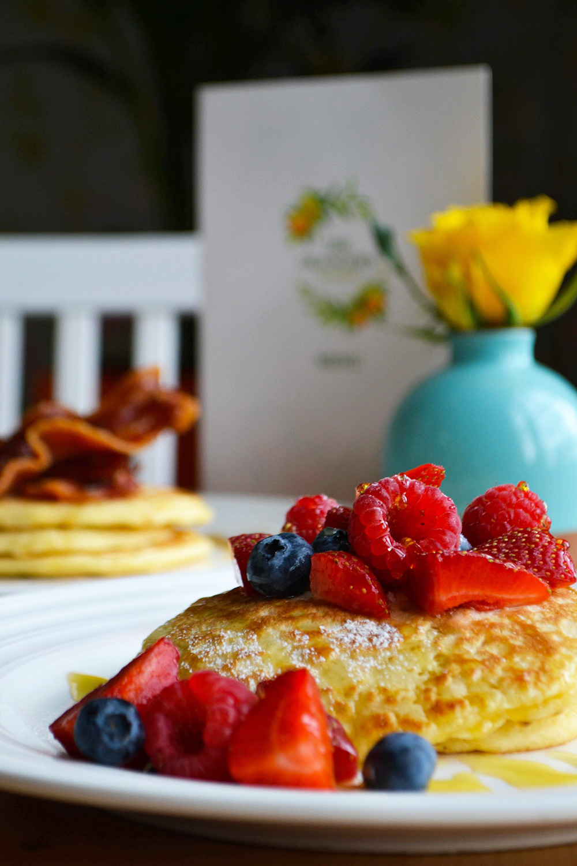 Breakfast pancakes.