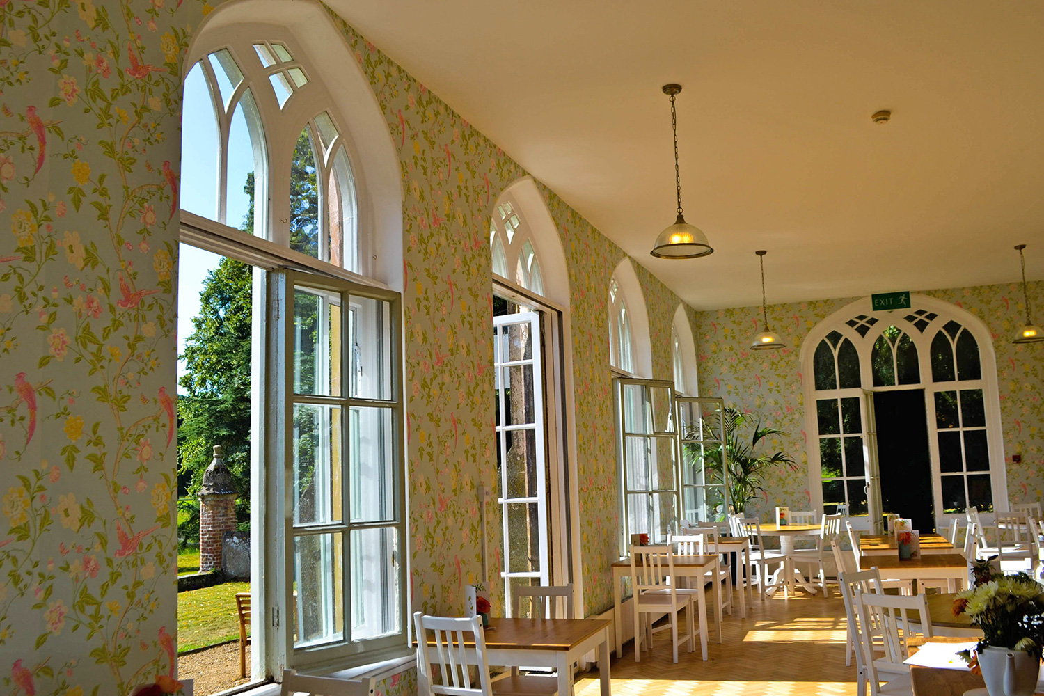 Inside The Orangery.