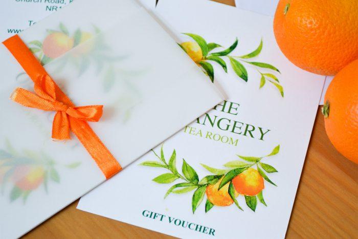 Orangery Gift Vouchers.